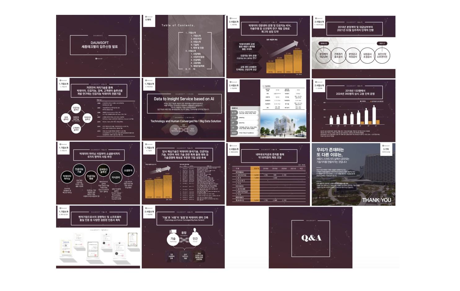 [사업계획서]다음소프트_세종테크밸리 인공지능 솔류션